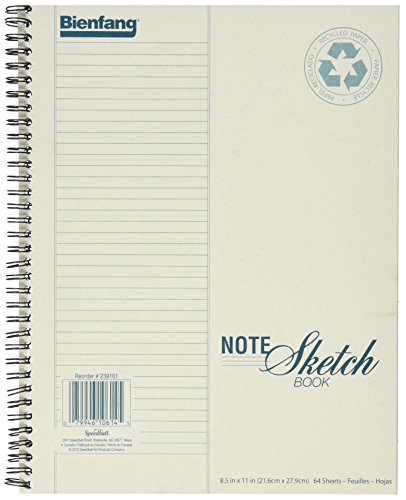 Bienfang Notesketch Paper Pad, Verically-Lined, 64 Pages, 8.5-Inch by...