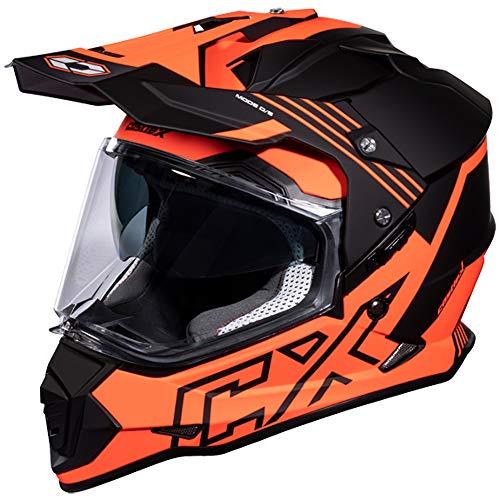 Castle Mode SV Agent Dual Sport Helmet Matte Fluorescent Orange XL