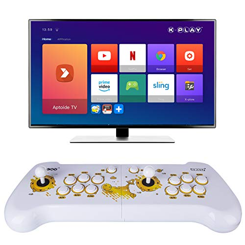 ITop K-Play - Consola de juegos, Home Arcade Consola de Sistema Android, 500 juegos clásicos para Switch/PS4/Xbox