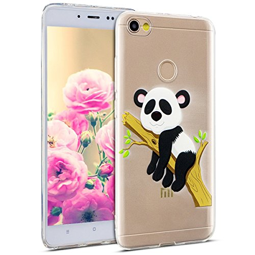 Uposao Kompatibel mit Hülle Xiaomi Redmi Note 5A Handyhüllen Transparent Weiche Silikon Durchsichtig TPU Kratzfest Schutzhülle Crystal Clear Ultra Dünn Silikonhülle Handytasche,Lustig Panda Baum