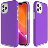 CoverON Slim Cover Designed for Apple iPhone 12 Pro Max Case (6.7'), Dual Layer Rugged Phone Protector - Purple
