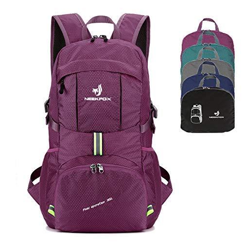 NEEKFOX Packable Lightweight Hiking Daypack 35L Travel Hiking Backpack, Ultralight Foldable Backpack...