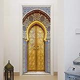 murimage Papel Pintado Puerta Mosaico 3D 86 x 200 cm Incluye Pegamento Marruecos Aladin Luji Entrada Habitación Cocina Fotomurales Pared