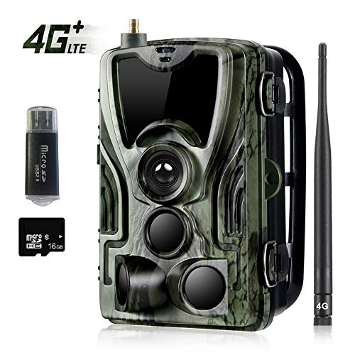4G LTE Trail Game Camera, 16MP 1080P Wildlife Wireless...