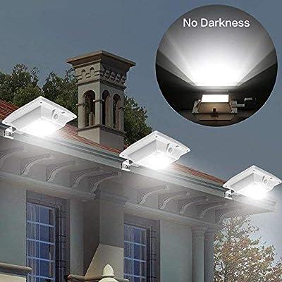 YINGHAO Solar Motion Sensor Light Outdoor PIR Solar Powered Led