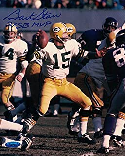 54fdcd0042a Bart Starr Autographed Green Bay Packers 8x10 Photo 2x SB MVP TRI