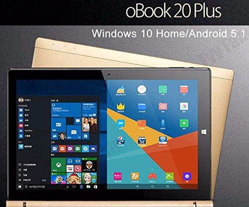 Onda 10.1 inches Obook 20 plus Dual OS Windows10+Android 5.1 Tablet PC Intel Cherry X5-Z8300 Quad Core 4GB RAM 64GB ROM