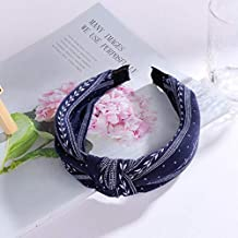 SUMOUMOU Hair accessories Wide Cross Knotted With Floral Female Headdress Wicker Girl Hair Accessories