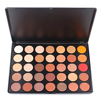 Sunsent 35 Colors Nature Glow Eyeshadow Make up Waterproof Palette