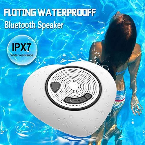 Yunhigh-uk NEU Pool Floating Bluetooth-Lautsprecher Wasserdicht mit Licht, Audio-Soundbox mit ausgezeichnetem Sound Tragbar für Whirlpool, Dusche