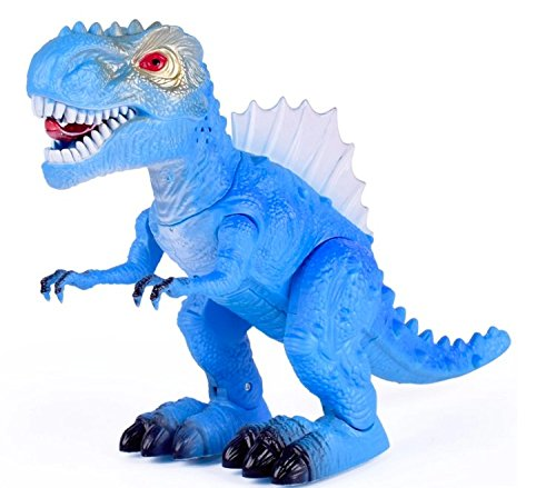 T-Rex Electronic Dinosaur Light Up with Flashing Lights & Realistic Animal Sounds. Tyrannosaurus dino toy velociraptor primal pal blue prehistoric animals. Educational dinosaurs toys for kids 3-5