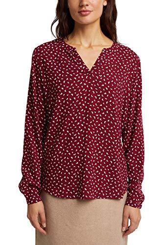 ESPRIT Damen 990EE1F318 Bluse, 603/BORDEAUX RED 4, 38