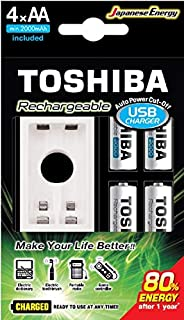 Toshiba Rechargeable Battery AA 4Pcs 2000mAh