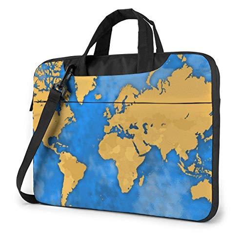 15.6 inch Laptop Shoulder Briefcase Messenger Map of Africa America Tablet Bussiness Carrying Handbag Case Sleeve