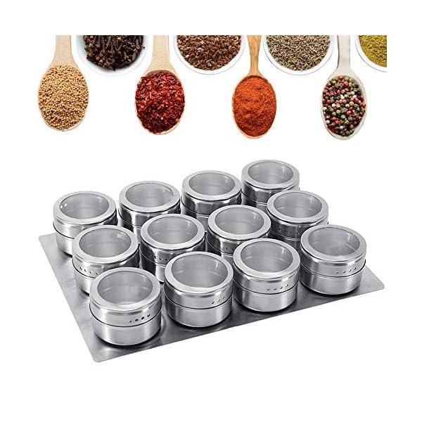 GoMaihe Spice Jars 12 Set 1