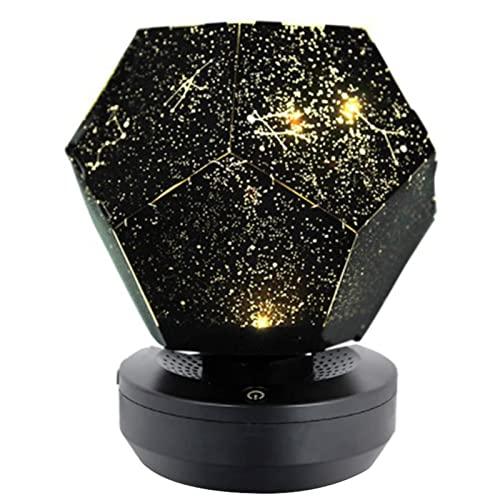 Proyector de luz nocturna estrellada, lámpara de sombra dormitorio Selly Sky Proyector Luz nocturna, Modo de iluminación de sala de juegos, Cine,...
