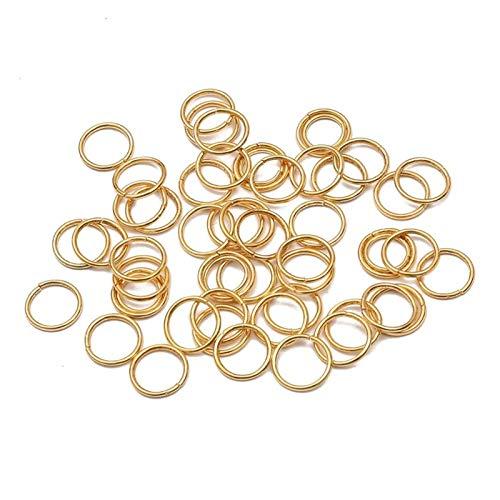 Jewelry Accessories 3-20mm Metal Single Loops Open Jump Ring Split Ring Connectors For DIY Jewelry Making Findings Supplies for Jewelry and Crafts Making (Color : KC Gold, Size : 14mm 100pcs)