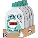 Colon Nenuco - Detergente para lavadora, adecuado para ropa blanca y de color, formato gel - Megapack de 5, hasta 170 dosis