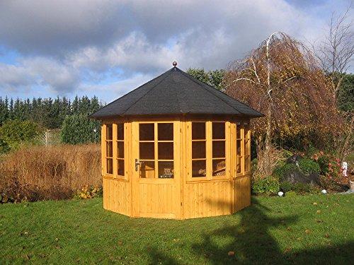 Riwo Gartenpavillon Pavillon - 110 Romantica geschlossen 10-Eck 3,3m