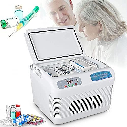 ZCM-JSDTWS Medikamente Kühlschrank, Tragbare Insulin Kühlbox für Medikamente Mini Intelligente Elektrische Kühlschrank Kühltasche Thermostat- füR Reisen/Interferon/Lagerung von Arzneimitteln