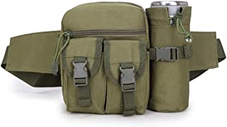 COAFIT Unisex Waist Bag Multi-Pocket Waist Pack with Water Pouch for Outdoor