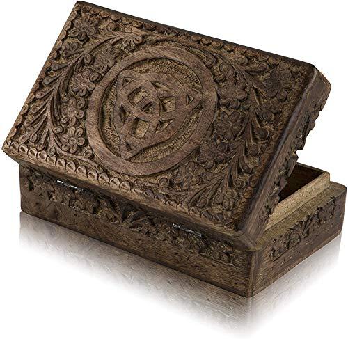 Verjaardagscadeaus Ideeën Handgemaakte Decoratieve Houten Sieraden Box Sieraden Organizer Keepsake Box Schatkist Trinket Houder Horloge Box Opbergdoos 8 x 5 Inch Verjaardag Huishoudelijke Geschenken Vrouwen