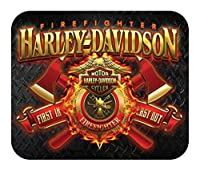Harley-Davidson Firefighter Original Thin Neoprene Mouse Pad, Black MO126581