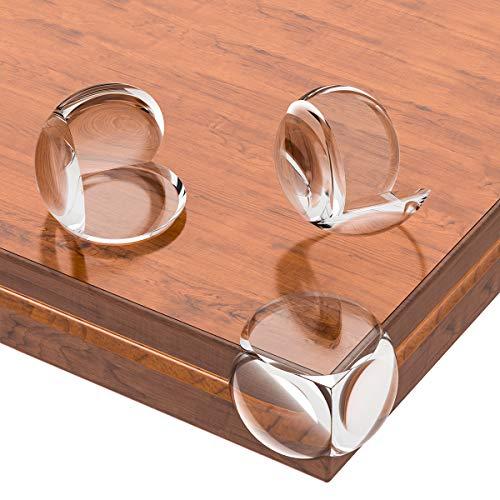Lesfit Transparent Eckenschutz, Kantenschutz, Möbeleckenschutz Rund, Schutz für Tisch Möbel Ecken, Stoßschutz für Baby und Kinder 20 Stücke