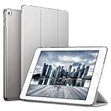 ESR iPad Mini4 ケース クリア iPad Mini4 カバー レザー PU スタンド機能 スリム傷つけ防止 オートスリープ ハード三つ折タイプ iPad Mini4(第四世代) 専用スマートカバー(ギャラクシー グレー)