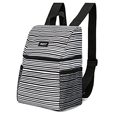 PackIt Freezable Lifestyle Lunch Backpack, Wobbly Stripes