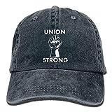 qinhanxinchengxianlibaihuodian Union Starke Unisexjustierbares Cotton Denim Hut Gewaschene Retro Gym Hat FS & DMhcap Kappe