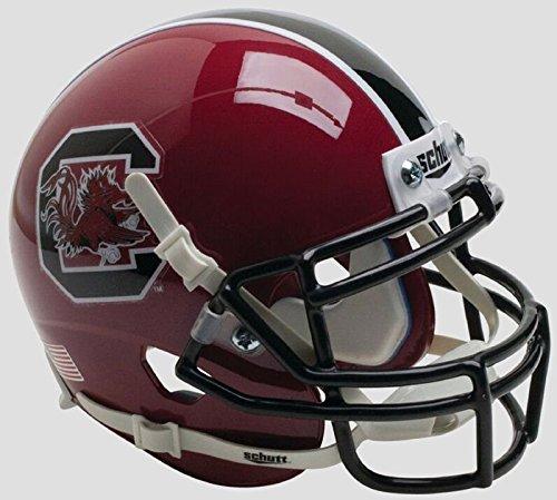 Schutt NCAA South Carolina Mini-Fußballhelm, Unisex, NCAA South Carolina Gamecocks Mini Authentic XP Football Helmet, Cardinal Alt. 1, Mini