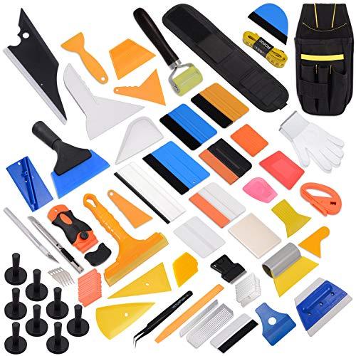 Ehdis Professional Window Film Vinyl Wrap Kit Inklusive Alle Werkzeuge Vollständige Squeegees, Schaber, Schneider, Halter, Werkzeugtasche