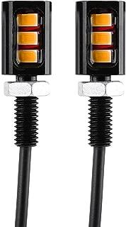 Negro LED Moto Tornillo Luces para Matr/ícula Matr/ícula