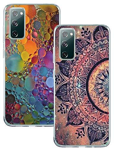 Für Samsung Galaxy S20 FE 5G/4G(Fan Edition) Hülle Handyhülle Silikon, Ultradünn Durchsichtig TPU Sonnenblume Schutzhülle Original Transparent Blumen Stoßfest Anti-Scratch für Samsung S20 Lite Handy