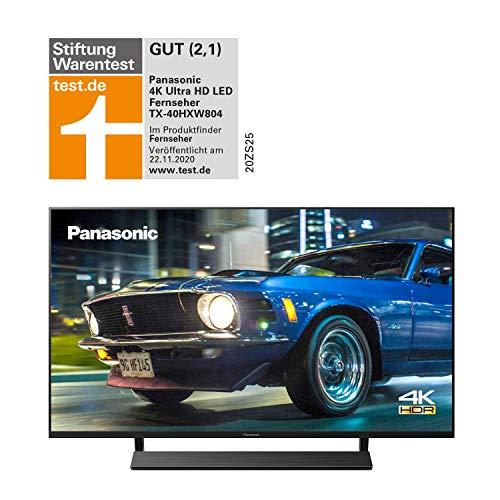 Panasonic TX-40HXW804 UHD 4K Fernseher (LED TV 40 Zoll / 100 cm, HDR, Quattro Tuner, Smart TV, Alexa, USB Recording) [Energieklasse A+]