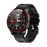 Smart Watch, Smartwatch for Android/iOS Phones,Fitness Tracker with Heart Rate Monitor,Touch Screen Waterproof Smart Watches, Activity Tracker Step Counter Sleep Monitor Message Call Pedometer (Black)