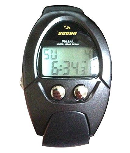 Pulsar Spoon PCW 023 Reloj de pulsera con cronógrafo, alarma y pantalla LCD