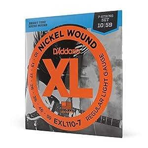 D'Addario EXL110-7 Satz E-Gitarren-Saiten 010′ – 059′