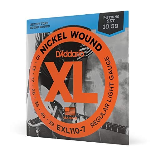 D'Addario EXL110-7 XL Nickel Wound Regular Light  (.010-.059) 7-String...