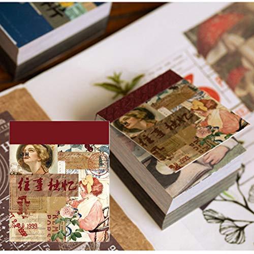 NA 400 Fogli Scrapbook Carta di Sfondo, Carta Decorativa di Motivo Vintage Raccolta di Base Decorativi di Carta per Scrapbooking, per Artigianato, Biglietti, Decorazioni, 40 x 50 mm