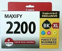 Canon PGI - 2200XLブラック高Yield / pgi-2200カラーシアンマゼンタイエロー標準インクカートリッジ( 9255b005)、4インクタンク