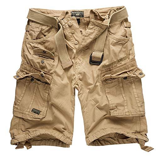 Geographical Norway Cortos Cargo Pantalones Cortos Bermudas Con Cinturón Pantalones cortos Hunter en el Bundle con UD PAÑUELO