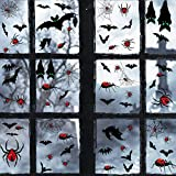 heekpek Halloween Aufkleber Fenster Fledermaus Spinne Fenster Leuchtende Aufkleber Dekoration...