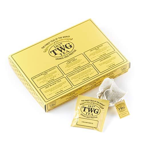 TWG Tea Taster Collection Bags Auswahl der 6populärsten Tees in 30handgenähten Teebeuteln aus Baumwolle in einer Geschenkbox, Waldbeere, 75 gramm