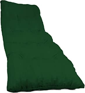 Dabuty Online, S.L. Pack de 2 Cojines de Tumbona Acolchada de Rayas 180 x 55 X 8 cm Colchón Texturas Rojo, Verde, Amarillo, Azul. Colchoneta Tumbona (Liso Verde)