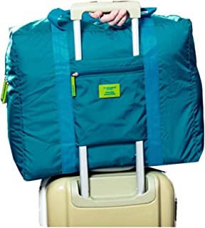 Travel Luggage Duffle Tote Bag Lightweight Waterproof Foldable Storage Carry Bag (Blue)