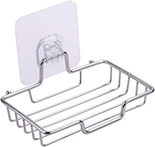 Soap Holder,Soap Dishes Tray Shower Soap Dish Holder Self Adhesive Wall Mounted Soap Bar Holder,Soap Rack Strong Rustproof Stainless Steel Bathroom Accesories (5.33.51.1)