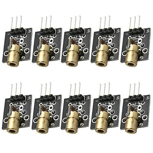 YOUMILE 10er Pack KY-008 3pin 650nm 5V Laser Transmitter Sensor Modul für Arduino AVR PIC