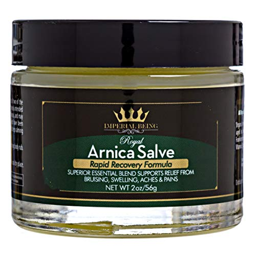 Royal Arnica Salve, Rapid Healing Formula, Highest Potency Arnica Oil for Bruises, Fast Relief for Muscle Aches & Pain, Super Premium Massage Blend, Organic Essential Oils, Herbs & Minerals (2 oz)